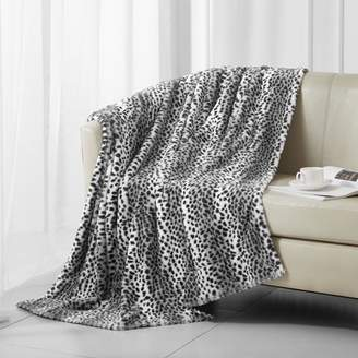 Better Homes & Gardens White Snow Leopard Faux Fur Throw Blanket