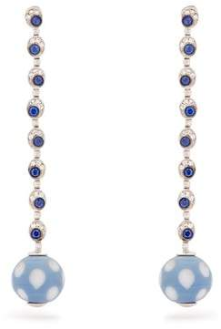 Francesca Villa Pois Pois Diamond & Sapphire White Gold Earrings - Womens - Blue