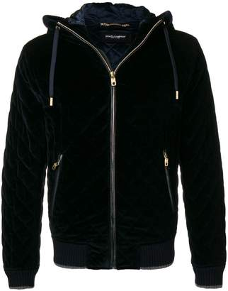 Dolce & Gabbana quilted zipped hooded jacket
