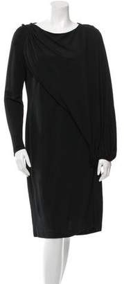 Givenchy Draped Long Sleeve Dress