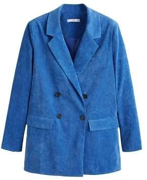 Micro corduroy structured blazer