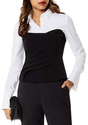 Karen Millen Layered-Look Corset Shirt