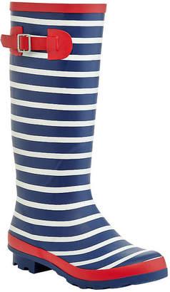 HENRY FERRERA Henry Ferrera Womens High Limit Rain Boots Water Resistant Flat Heel Slip-on