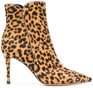 Gianvito Rossi leopard print boots