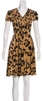 Blumarine Printed Silk Dress