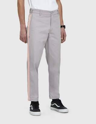 Dickies Construct Slim Stripe Trouser in Lt. Grey With Peach Stripe