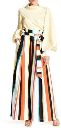 Gracia Stripe Multicolor Wide Leg Pants