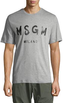 MSGM Paintstroke Logo T-Shirt