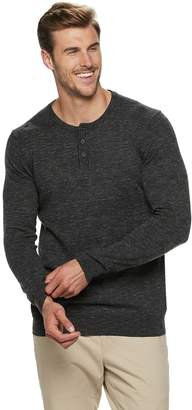 Sonoma Goods For Life Big & Tall SONOMA Goods for Life Supersoft Modern-Fit Henley Sweater