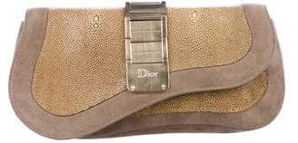 Christian Dior Stingray Saddle Clutch
