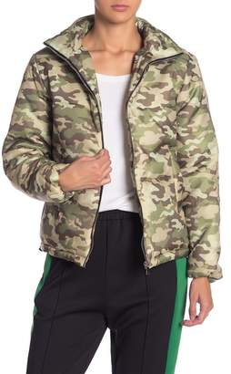 Know One Cares Camo Puff Jacket