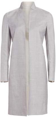 Akris Reversible Wool & Silk Long Jacket