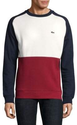 Lacoste Colorblock Crewneck Sweatshirt