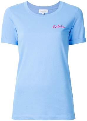 CK Calvin Klein script logo T-shirt