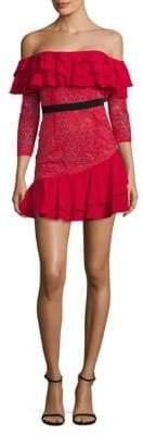 For Love & Lemons Lace Off-the-Shoulder Dress