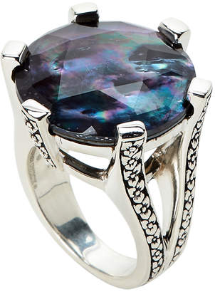 Stephen Dweck Mother-of-Pearl & Hematite Ring Size 7