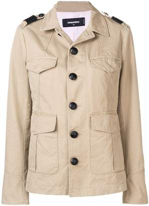 DSQUARED2 long sleeved safari jacket