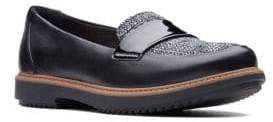 Clarks Collection By Raisie Arlie Leather Loafers