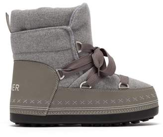 Bogner Trois Vallees Felt Snow Boots - Womens - Grey