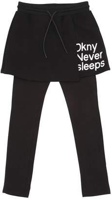DKNY Cotton Jersey Leggings W/ Skirt