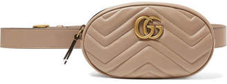 Gucci Gg Marmont Quilted Leather Belt Bag - Pastel pink