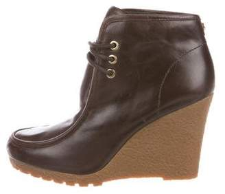 MICHAEL Michael Kors Leather Wedge Booties
