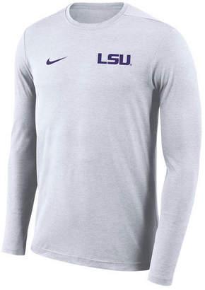 Nike Men's Lsu Tigers Long Sleeve Dri-Fit Coaches T-Shirt