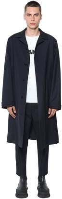 Jil Sander Strasbourg Wool Blend Canvas Coat