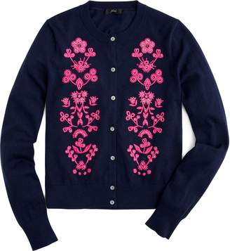 J.Crew Jackie Floral Embroidered Cardigan