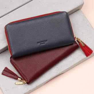 Hurleyburley Luxury Leather Personalised Zipped Wallet Purse