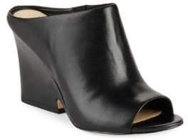 Sam Edelman Wayne Peep-Toe Leather Mules