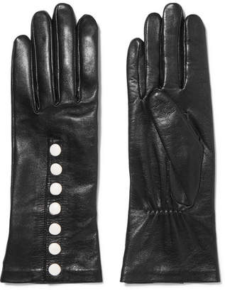 Agnelle Arielle Leather Gloves - Black