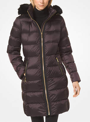 Michael Kors Nylon And Faux Fur Puffer