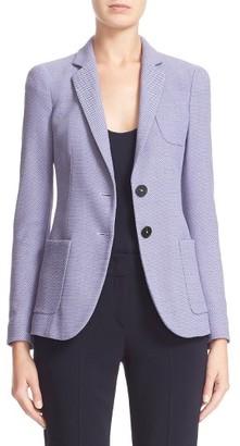 Women's Armani Collezioni Textured Cotton Blend Jacket $1,395 thestylecure.com
