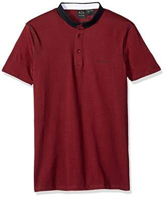 Armani Exchange A|X Men's Short Sleeve Polo Shirt with Solid Collar