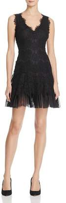 Aqua Tulle-Trimmed Lace Dress - 100% Exclusive