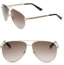 Gucci 56MM Aviator Sunglasses