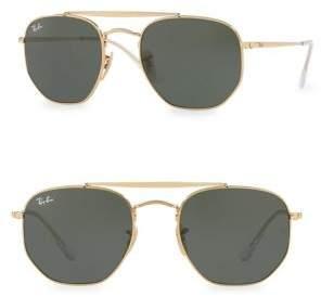 Armani Exchange 54MM Geometric Aviator Sunglasses