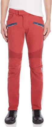 Balmain Red Moto Skinny Jeans