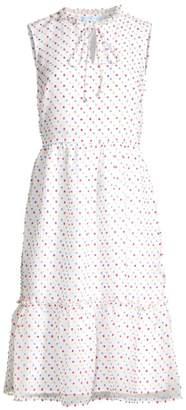 Draper James Swiss Dot Sleeveless Ruffled Dress