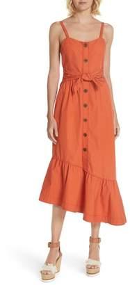 Derek Lam 10 Crosby Ruffled Poplin Midi Dress