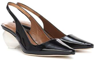 Rejina Pyo Margot patent leather slingback pumps