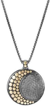 "John Hardy Dot Crescent Moon Pendant Necklace, 36"""
