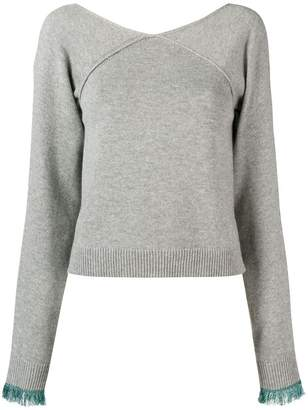 Chloé cropped v-neck sweater