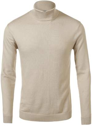 fhnlove Daniel K Men's Basic Knitted Turtleneck Slim Fit Pullover Sweaters Size M