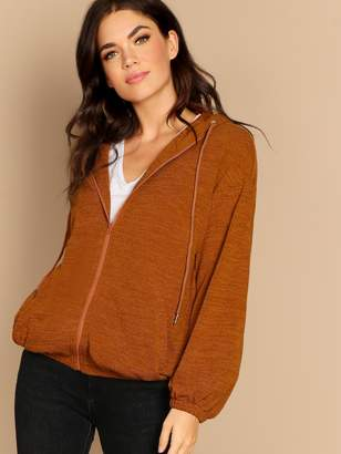Shein Zip Up Hooded Jacket