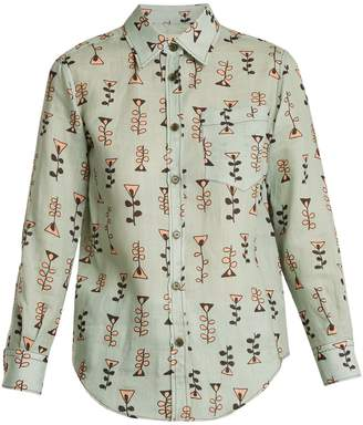 Marni Graphic-print point-collar shirt