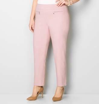 Avenue Zip Pocket Crosshatch Slim Leg Pant 28-32