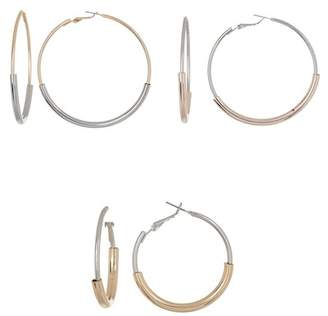 Free Press Tubular Hoop Earring - Set of 3
