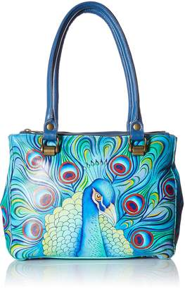 Anuschka ANNA by  Hand Painted Leather Women'S Triple Compartment Medium Tote